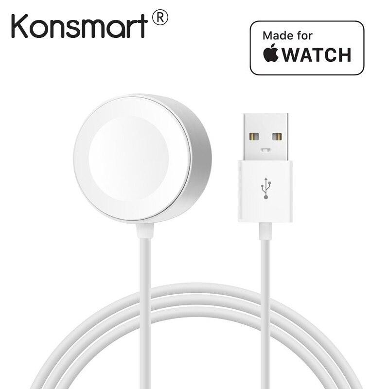 Konsmart Original 1 mt Schnelle Drahtlose Magnetic Charging Kabel für Apple Uhr Ladegerät Adapter für i-Uhr Serie 1 2 3 38/42mm