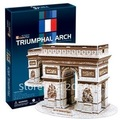 Original cubicfun 3D puzzle paper model stereo DIY toy C045H France Triumphal Arch - New Gift free shipping