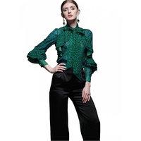 Новая верхняя одежда на сезон весна осень женские офисные блузка мода с длинным Расклешенным рукавом лук тонкий рубашка Женский милый Bodycon