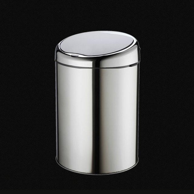 6 Liter No Touch Waste Bin Sensor Trash Can Touchless Garbage Stainless Steel Battery Operated