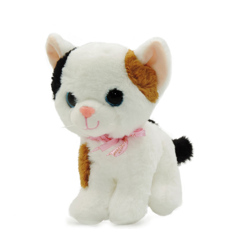 20cm Kids Toys Plush Cat Stuffed Big Eyes Cats Kawaii Kitten Children Toy Soft Peluche Doll Birthday Gifts New Year Decor new arrival 55cm blue eyes pink clothes lifelike baby soft girl doll with free plush toy as kids xmas gifts birthday doll toys