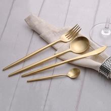 4 Stücke Luxus Gold Besteck 18/10 Edelstahl Geschirr Frost Messer Gabel Restaurant Gold Geschirr Set Service für 1