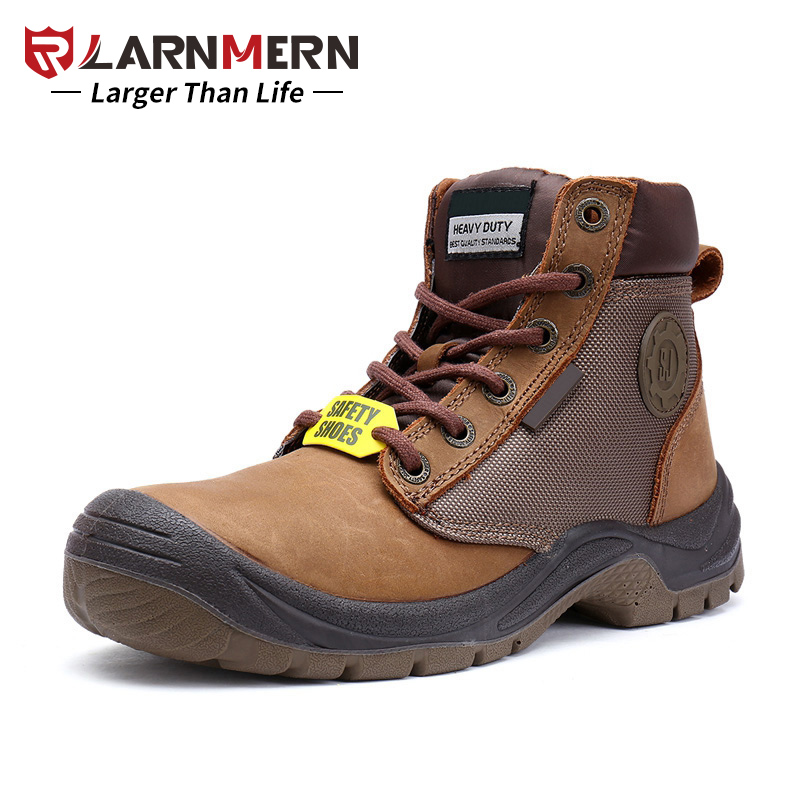 LARNMERN Men Work Safety Boots Shoes S3 SRC Slip Resistant Anti-static Steel Toe Outdoor Protection Footwear Waterproof best work safety footwear waterproof anti slip overshoes for sea food shop sushi shop men s medical nurising hospital shoes