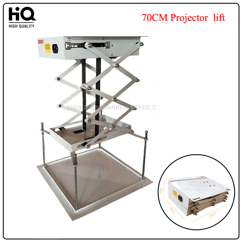 1pcs 70CM Projector bracket motorized electric lift scissors projector ceiling mount projector lift with remote 70cm projector bracket motorized electric lift scissors with remote electric ceiling mount bracket for cinema church hall school