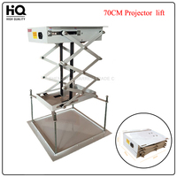 1pcs 70CM Projector bracket motorized electric lift scissors projector ceiling mount projector lift with remote
