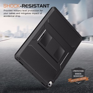 """Image 3 - MoKo Case For New iPad Air (3rd Generation) 10.5"""" 2019/iPad Pro 10.5 2017  [Heavy Duty] Shockproof Full Body Rugged Hybrid Cover"""