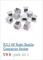 50 pçs lote colorido rj12 6p6c conector
