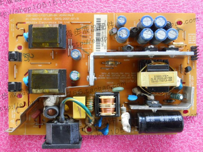 Free Shipping>Original 100% Tested Working  LXM-WL19BH 200-000-170DTLBM-CH E177671 high voltage power supply in the mag free shipping 2407fpw 2407wfp power supply board 4h l2k02 a01 24 inch original 100% tested working