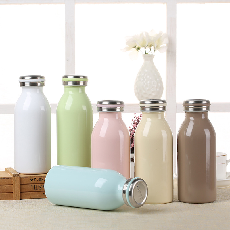 candy color 350ml vacuum flasks thermoses stainless steel thermos coffee travel mugs garrafa mug termos drink - Coffee Travel Mugs