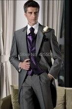 Tuxedo Skinny Groom Wedding Suits Dress Mens Three Piece Suits(Blazer+Pants+ Vest) Fashion Elegant Designer Men Suits