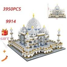 Diamond Mini Building Bricks City Architecture Land marks Taj Mahal Palace 3D Model Childrens Educational Toy