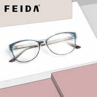 FEIDA ยี่ห้อแว่นตาผู้หญิงกรอบแบรนด์ designer ผู้ชายกรอบ Acetate แว่นตาแว่นตา Retro Vintage แว่นตา franme BC3901