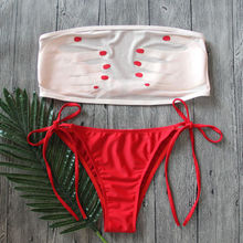 Sexy Women's Swimwear Bandage Bikini Set Push-up Padded Bra Bathing Suit Swimsuit Bather Swimming Suit