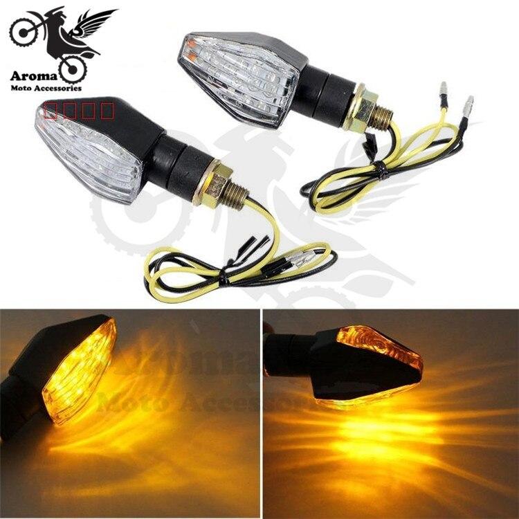 double lens yellow clear lamp amber motorbike LED scooter indicator pit bikeblinker moto flashers motorcycle turn signal light