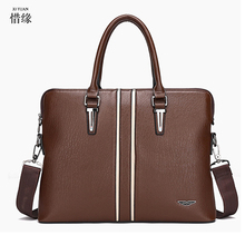 XIYUAN BRAND 2017 Genuine Leather Men Briefcase Cowhide Men's Messenger Bags Laptop Business travel Bag Luxury Lawyer Handbags