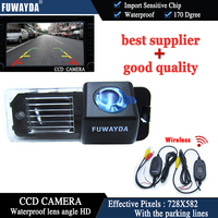 FUWAYDA Wireless CCD Car Rear View Reverse CAMERA for VW Volkswagen Polo V (6R)/ Golf 6 VI/ Passat CC With Guide Line waterproof