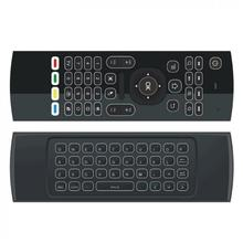 MX3 Backlit Wireless Air Mouse Remote Control with Backlight  for Smart Set-top Boxes / Projectors / Smart TV / PC New mx3 2 4g kodi remote