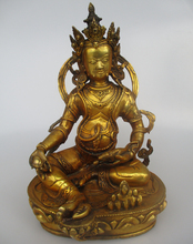High 11.5 inch Antique Sculpture ,Collectible Old Tibetan Brass Buddha Statue F0001