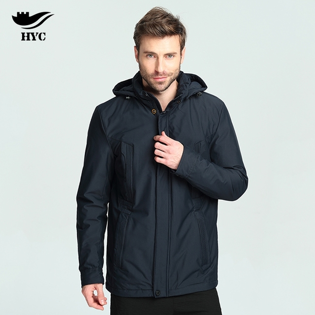 HAI YU CHENG Coat Men Winter 2017 Windbreaker Waterproof Trench ...