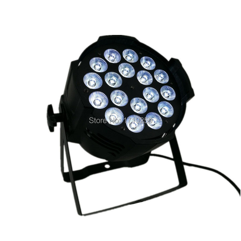 4 pcs/lot LED Par Can 18x12W RGBW Aluminum alloy LED Par 4IN1 wash stage lighting with DMX 8 Channels Fast Shipping  4pcs lot the brightest 4 8 dmx channels led flat par 18x12w rgbw 4in1 led par can light with power in power out