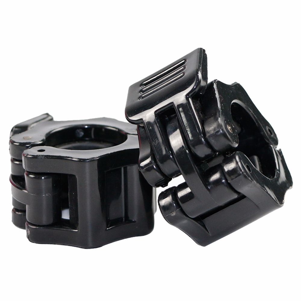 1 Pair Crossfit Dumbbells Barbell Clamps Collars Lock Fitness Musculation Standard Spring Collars Weightlifting Gym Jaw