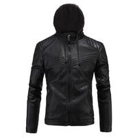 Leather Jacket Men Hoodies Motorcycle Jaqueta De Couro Masculina PU Mens Leather Jackets Skull Punk Veste Cuir Homme Windbreaker