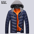 Perfect 2016 Winter Mens Down Jackets Men Breathable Thick Coats Spring Cotton-Padded Outwear Casual Male Feather Jacket,UMA303