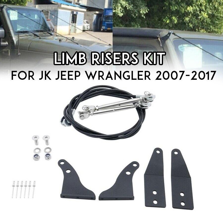 Pièces de voiture Wrangler JK Limb Risers pour Jeep Wrangler JK JKU accessoires 2007 2008 2009 2010 2011 2012 2013 2014 2015 2016 2017