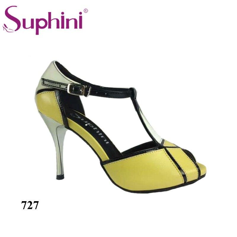Free Shipping Suphini Wholesale Brand New Womens Ballroom Latin Tango Dance Shoes 8.5cm Heel