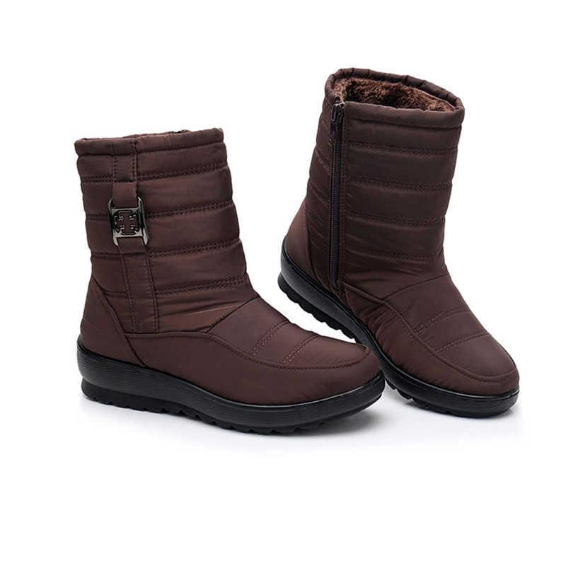TIMETANGWomensnow รองเท้าแบรนด์ฤดูหนาวรองเท้ากันน้ำ antislip light อุ่นสบายแม่รองเท้าผ้าฝ้าย plus ขนาด cottonE1873