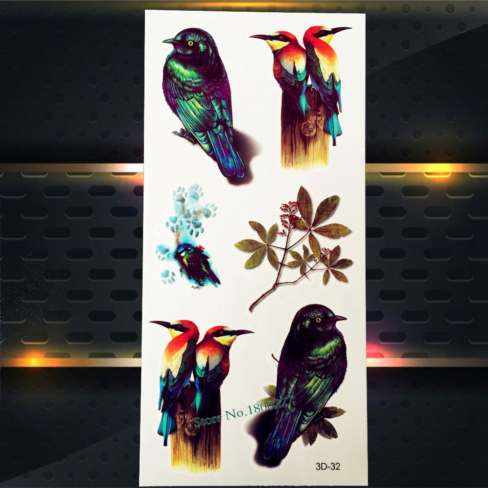 Women Makeup BOdy Arm Decal Temporary Tattoo Papillon 19x12CM Butterfly Plum Flower Design Waterproof Temporary Tattoo Stickers