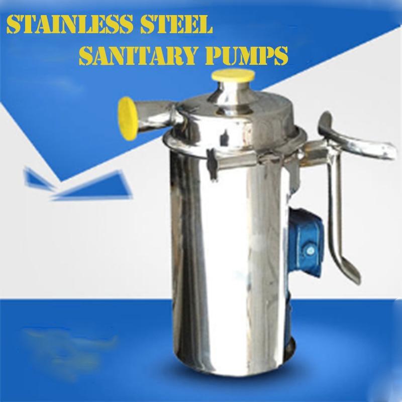 1T 110v 220v 380v Sanitary Clamp Low Pressure Centrifugal Pump for Milk Wine Transfer