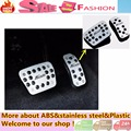 (Free drill) car cover Aluminium alloy foot Gas/petrol/oil inner Brake Rest lamp frame trim Pedal part for F0RD Fiesta AT 2pcs