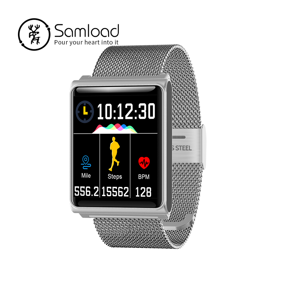 Samload Smart Bracelet N98 Color Full Screen Waterproof Fitness Tracker Clock Wristband Heart Rate Monitor Pressure For Xiaomi