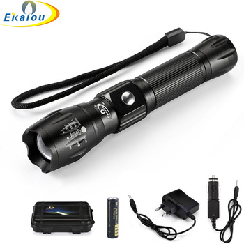new Rechargeable Led Flashlight XML-T6 1000LM Aluminum Alloy Torch High Power Tactical Led Flashlight Outdoor Lighting image