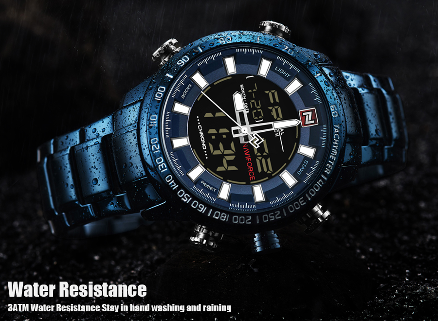 NAVIFORCE Mens Quartz Analog Watch Luxury Fashion LED Sport Wristwatch Waterproof Stainless Male Watches Clock Relogio Masculino 11