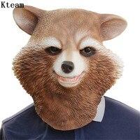 Cute Latex Teddy Bear Mask Animal Bear Head Latex Full Face Masks cosplay for Halloween Fancy Dress Party Birthday Party Mask