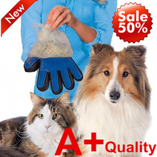 1pcs A+ Quality True Touch Silicone Five Finger Deshedding Glove Pet Dog Cat Grooming Bath Brush Accessories Wholesale