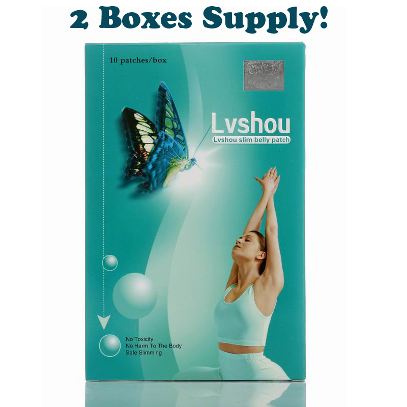 1 lot = 2 boxes Lvshou Slimming stick Slimming Navel Sticker Slim Patch Weight Loss Burning fat fast best sale 30pcs slimming navel stick slim patch weight loss burning fat patch