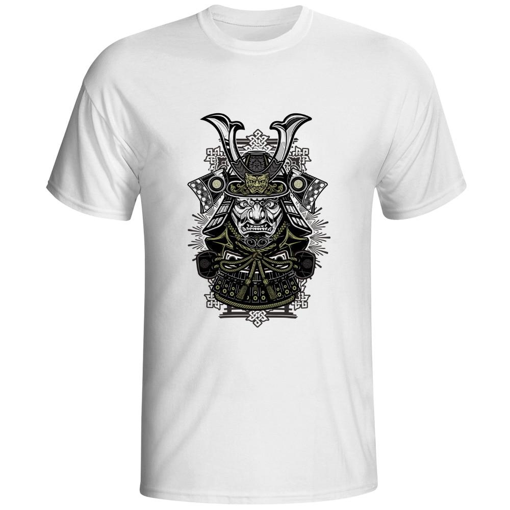 Dark Warrior T-shirt Samurai Japan Punk Rock Creative T Shirt Skate Design Style Women Men Top