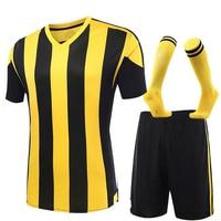 Men futebol Soccer Jerseys Set 2017 2018 Youth Kids survetement Football Training Suit maillot de foot customized with socks