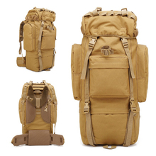 AIFEI 65L Large Capacity Outdoor Backpack Tactical Military Bag Sport Travel Camping Hiking Climbing Trekking Camouflage