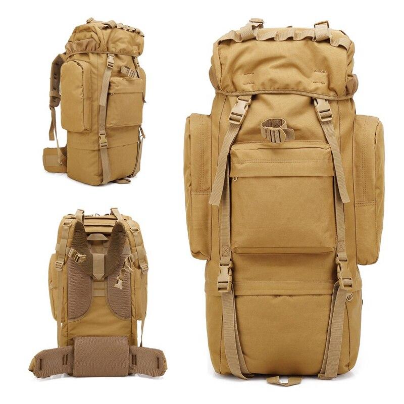 AIFEI 65L sac à dos extérieur de grande capacité sac militaire tactique 65L Sport voyage Camping randonnée escalade Trekking sac de Camouflage