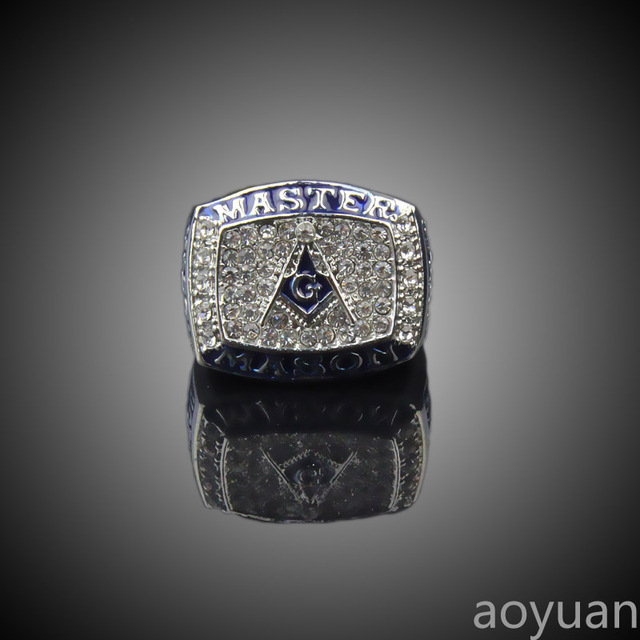 US $7 3 |aoyuan Championship rings,Masonic Blue Logo championship Ring,  sports fans rings, men gift ring -in Rings from Jewelry & Accessories on