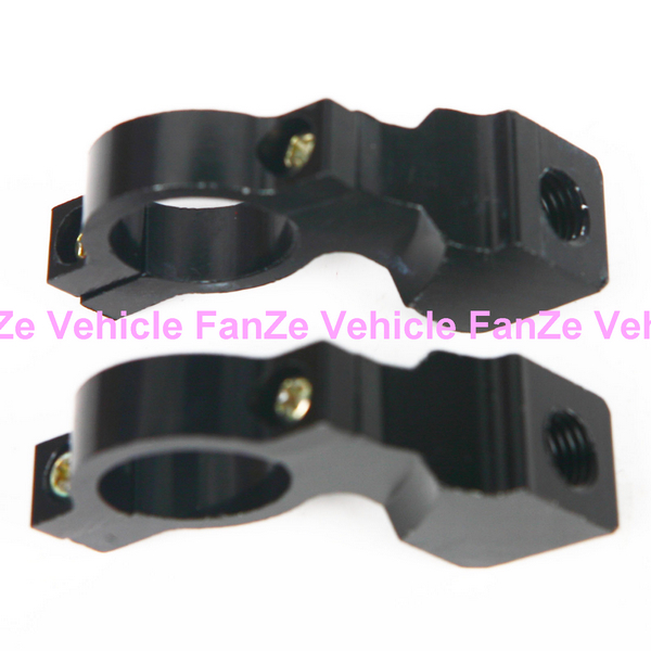 New universal Pair 10mm 7/8 inch Motorcycle Handlebar Mirror Mount Holders Adapter Aluminum Clamp - Cool Men's World store