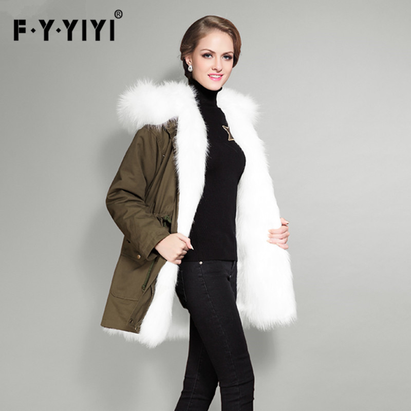 2016 Rabbit Hair In The Cotton Coat Big Raccoon Fur Collar Jacket 2017 winter new clothes to overcome the coat of women in the long reed rabbit hair fur fur coat fox raccoon fur collar