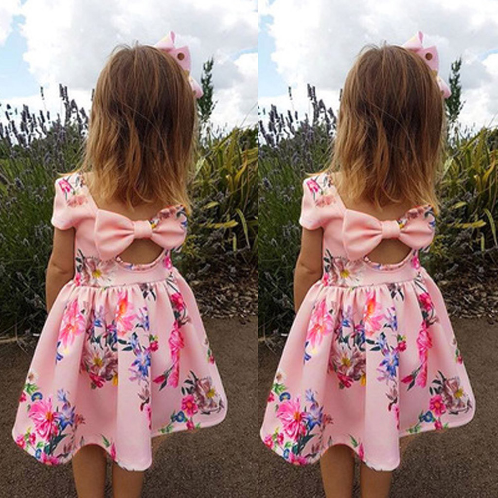 Cute Baby Girl Summer Dress Princess Party Pageant Birthday Dresses Kids Clothes
