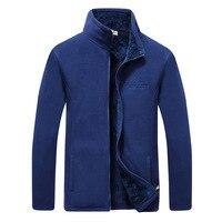 2018 Men Winter Warm Windproof Jacket Soft Shell Polar Fleece Jackets Men Thermal Outwear Jackets And Coats Men Hoodie Clothes