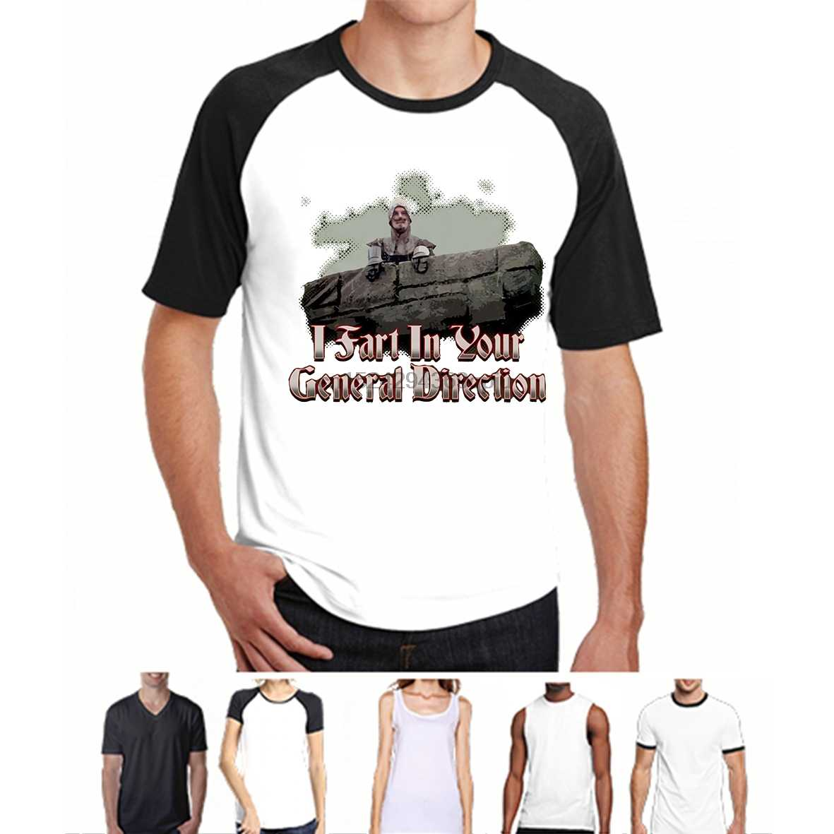 Забавная Футболка мужская новинка футболка Monty Python-I пердеж в вашем общем направлении зеленая футболка