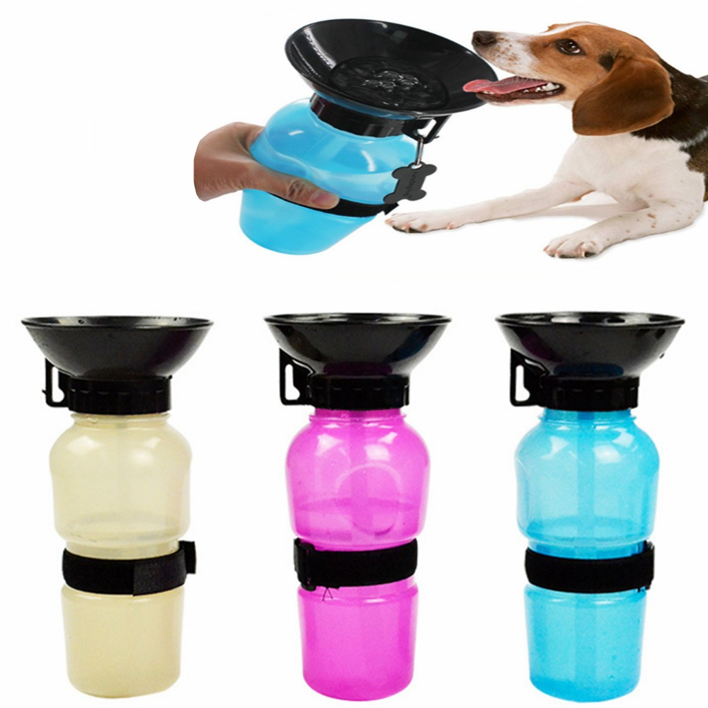 Portable Dog Water Bottle Cat Puppy Drinking Bottle Pet: DOGBABY 350ML/500ML Portable Pet Dog Water Bottle Travel